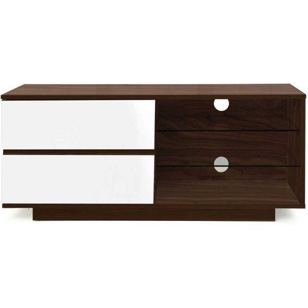 "MDA Gallus Walnut and White TV Cabinet for up to 55"" TVs"