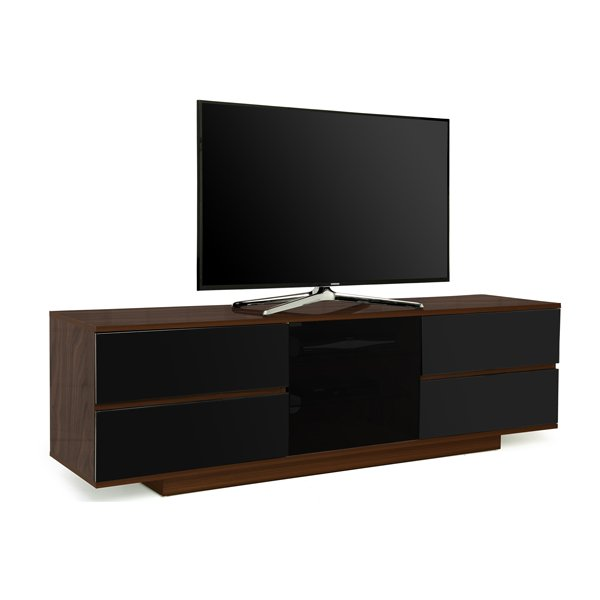 "MDA Avitus Ultra Gloss Walnut and Black TV Cabinet For 65"" TVs"