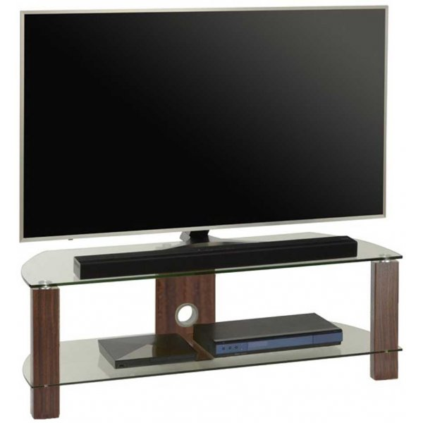 TNW Vision Walnut 1200 2 Shelf TV Stand