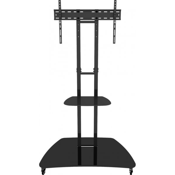"""AVF WFSL550 Black TV Cart with Base for up to 60\"""" screens includes shelf"""