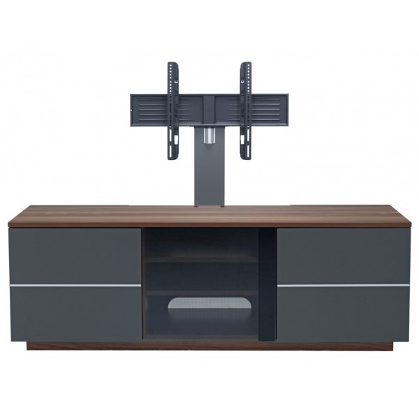 "UKCF New London Walnut and Grey TV Stand with Bracket For up to 65"" TVs"