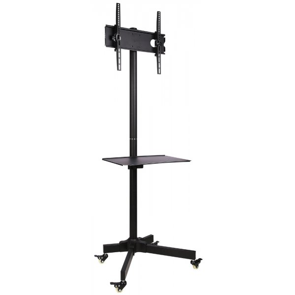 "Ultimate Mounts Single Pole TV Cart Trolley Stand For Up To 55"" 1.5m"