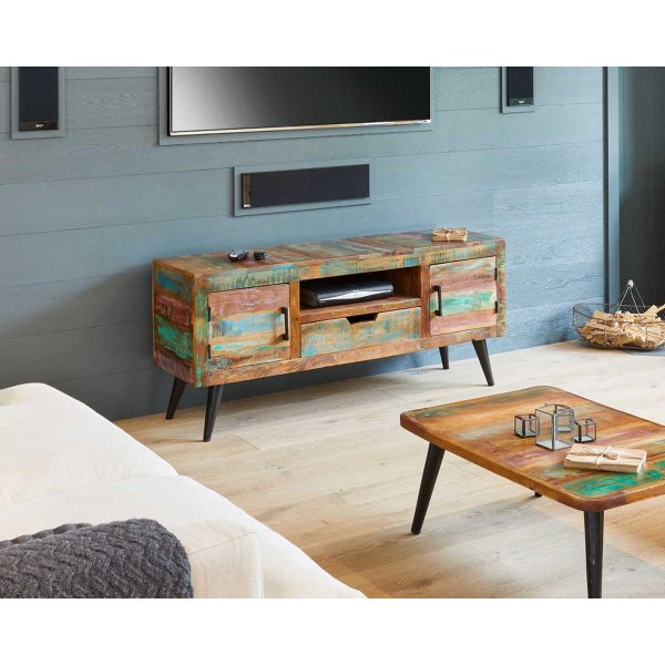 """Baumhaus Coastal Chic Widescreen TV Cabinet for up to 65\"""" TVs"""