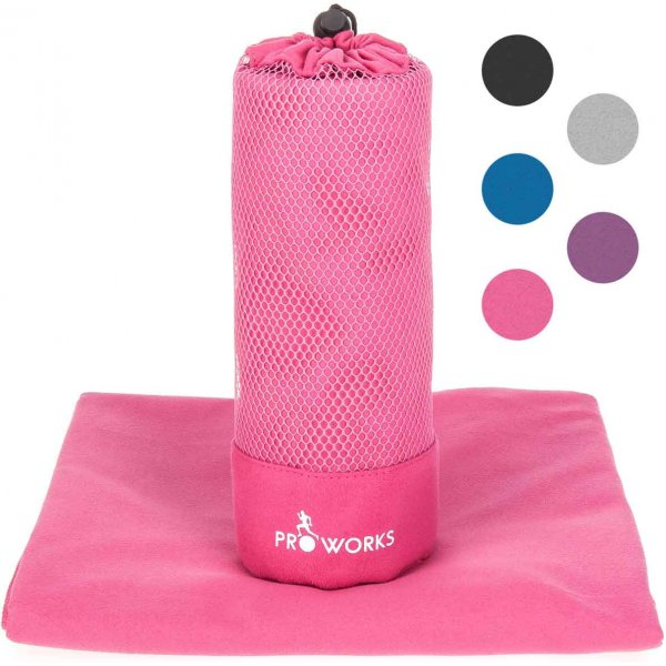 ProWorks Extra Extra Large Pink Microfibre Towel