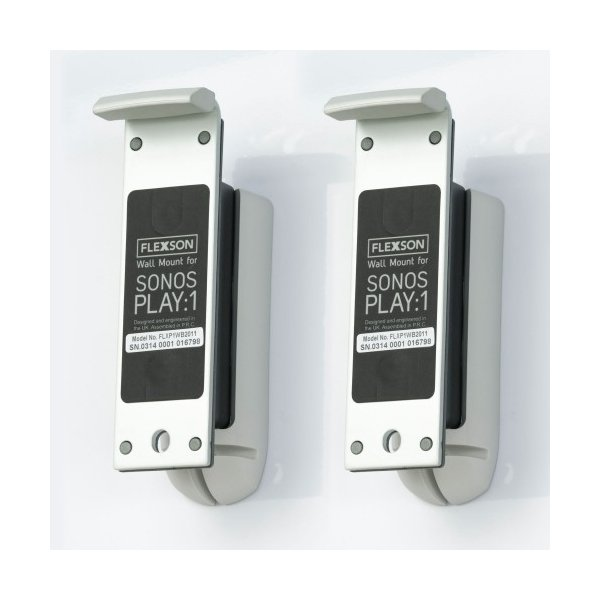 Flexson Wall Mount for For Sonos Play:1 - White (Pair)
