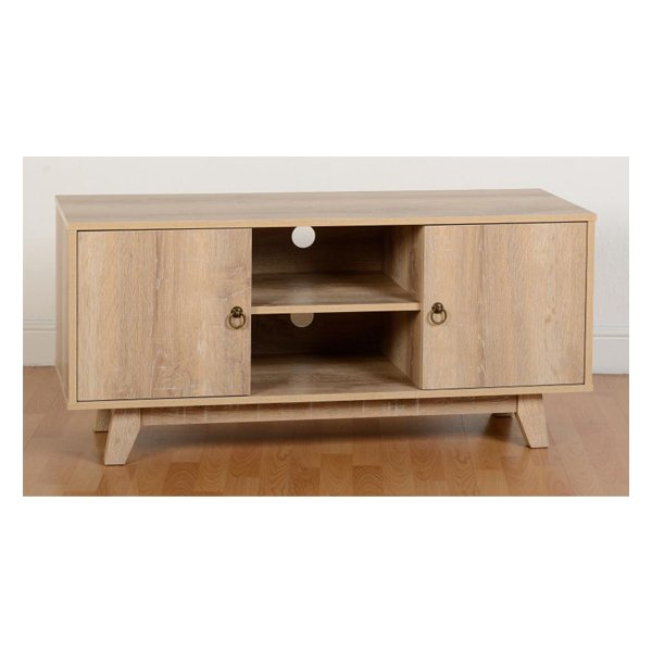 TNW Findlay TV Unit in Medium Oak Effect Veneer