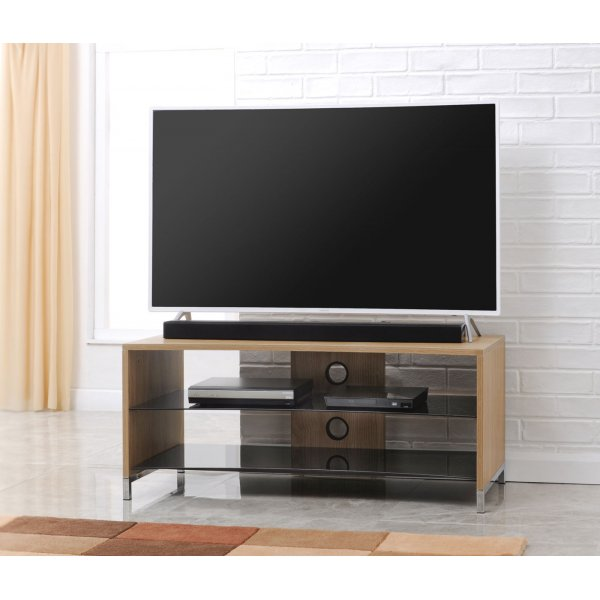 "TNW Paris Curve 1200 Oak TV Stand For Up To 55"" TVs"