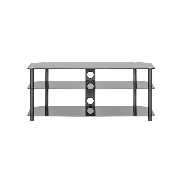 MMT ZGBB1200 Black Glass TV Stand for TVs up to 60""