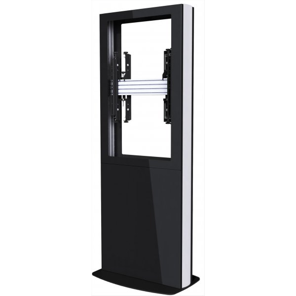 "Back-to-Back Portrait Digital Signage Kiosk for 84"" Screens - Black"