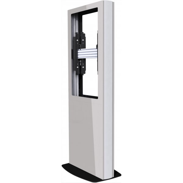 "Back-to-Back Portrait Digital Signage Kiosk for 84"" Screens - White"