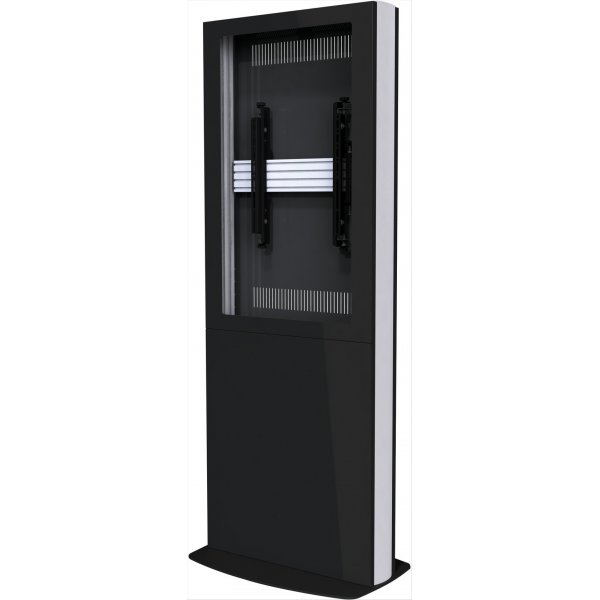 "Single Screen Portrait Digital Signage Kiosk for 55"" Screens - Black"