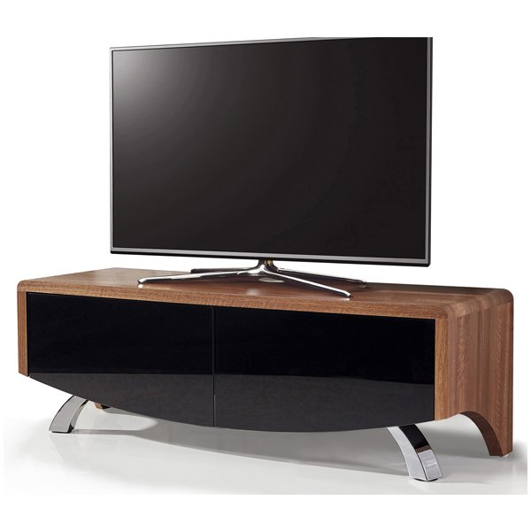 "MDA Wave 1200 Hybrid TV Stand For Up To 60"" - Walnut"