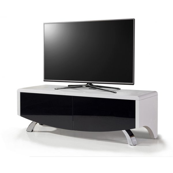 "Wave 1200 Hybrid TV Stand For Up To 60"" - White/Black"