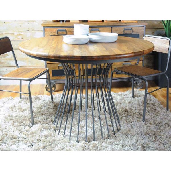 Ultimum Timeless Re-Engineered Birdcage Bistro Round Dining Table