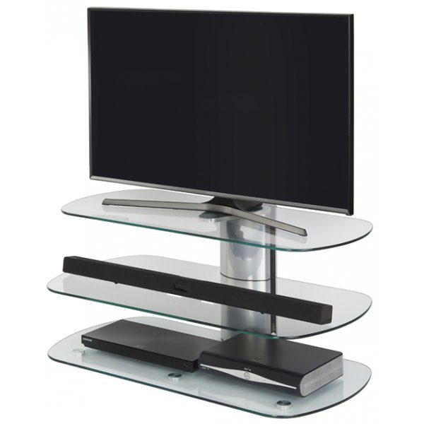"""Off The Wall SKY 1000 SIL Skyline TV Stand for up to 50\"""" - Silver"""