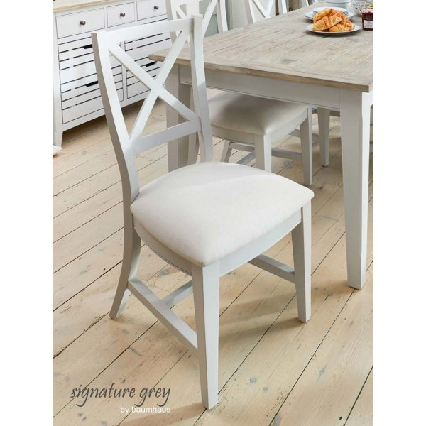 Baumhaus Signature Grey Dining Chair Pair