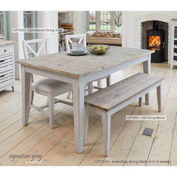 Baumhaus Signature Grey Extending Dining Table