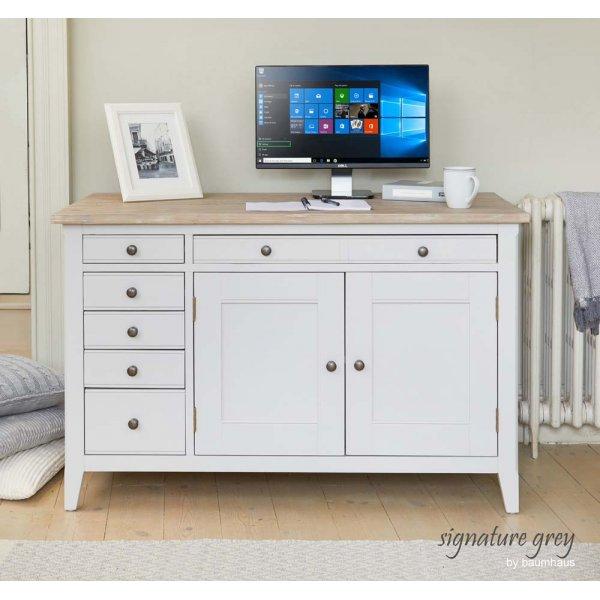 Baumhaus Signature Grey Hidden Home Office Rack