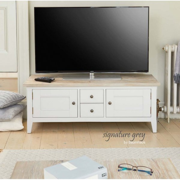 Baumhaus Signature Grey Widescreen TV Stand