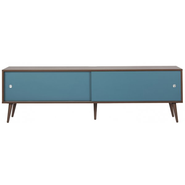 """Off The Wall Retro TV Stand for up to 85\"""" - Walnut"""