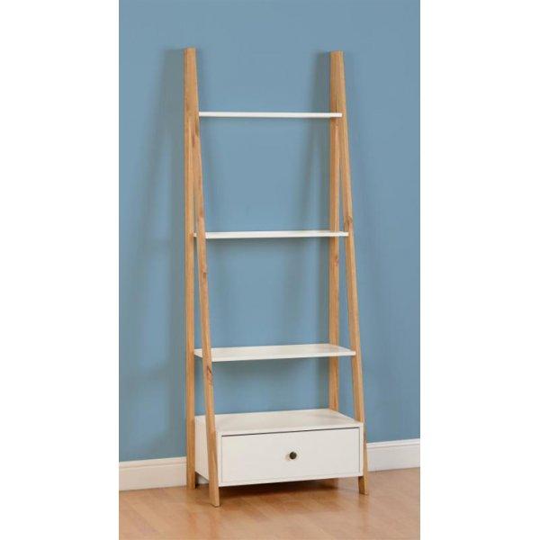 ValuFurniture Aztec 1 Drawer 3 Shelf Unit - White/Distressed Waxed Pine