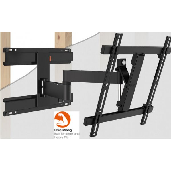 """Vogel\'s Wall 2246 Extra Thin Full-Motion Wall Bracket for 32\"""" to 55\"""" TV\'s - Black"""