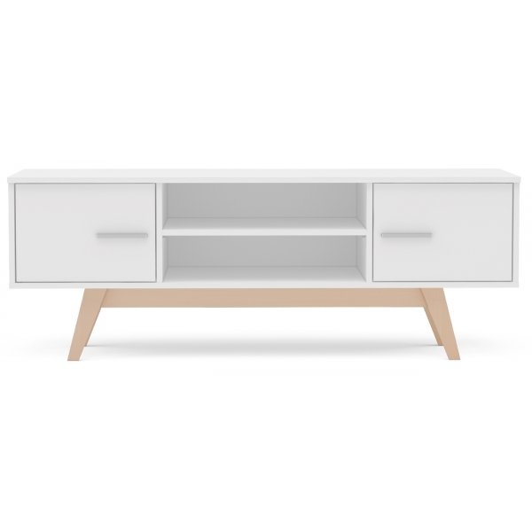 "TNW Shard TV Stand Unit for TVs up to 65"" - White"