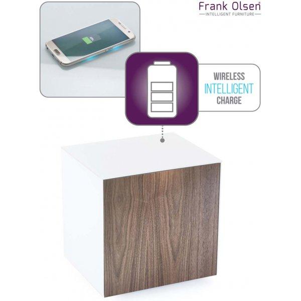 Frank Olsen Intel White and Walnut Lamp Table