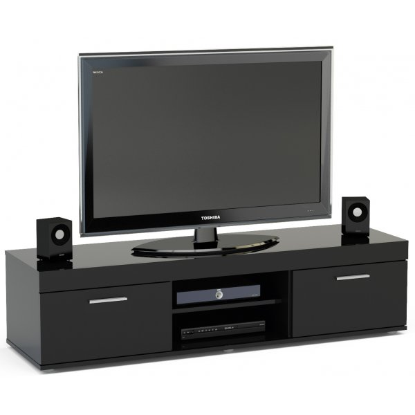 "TNW Carnaby TV Stand Unit for TVs up to 65"" - Black"