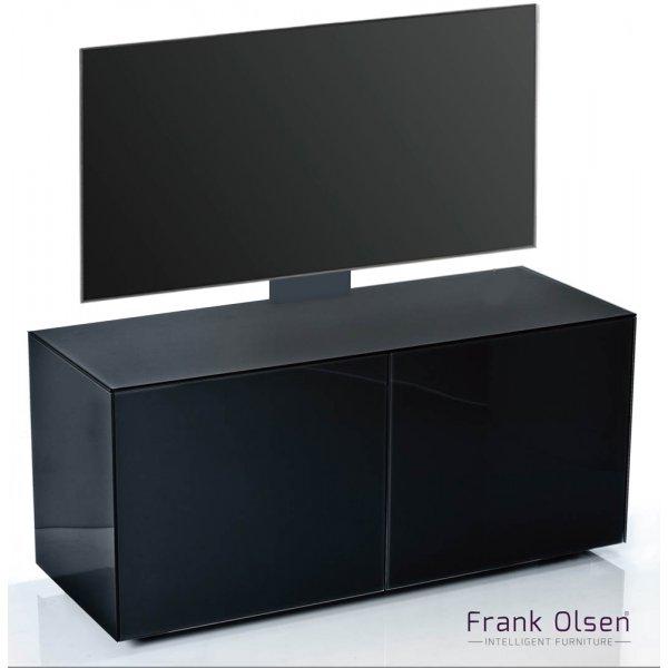 """Frank Olsen INTEL1100 Black Cantilever TV Cabinet For TVs Up To 55\"""""""