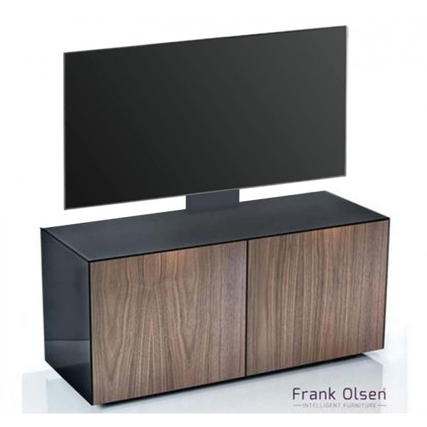 Frank Olsen INTEL1100 Black & Walnut Cantilever TV Cabinet For TVs Up To 55""