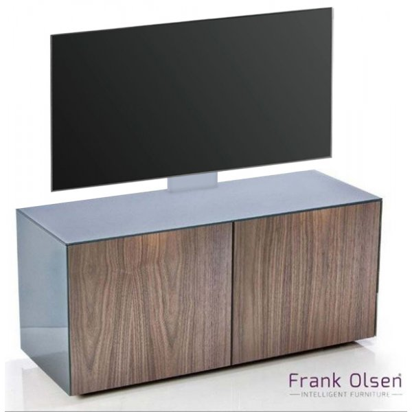 Frank Olsen INTEL1100 Grey & Walnut Cantilever TV Cabinet For TVs Up To 55""