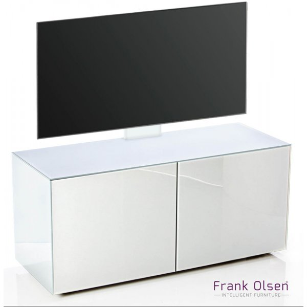 Frank Olsen INTEL1100 White Cantilever TV Cabinet For TVs Up To 55""