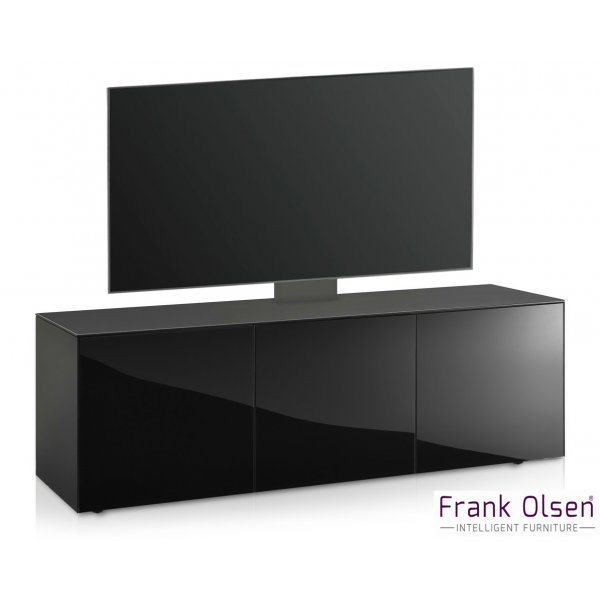 Frank Olsen INTEL1500 Black Cantilever TV Cabinet For TVs Up To 60""