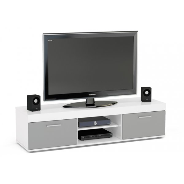 "TNW Carnaby TV Stand Unit for TVs up to 65"" - White/Grey"