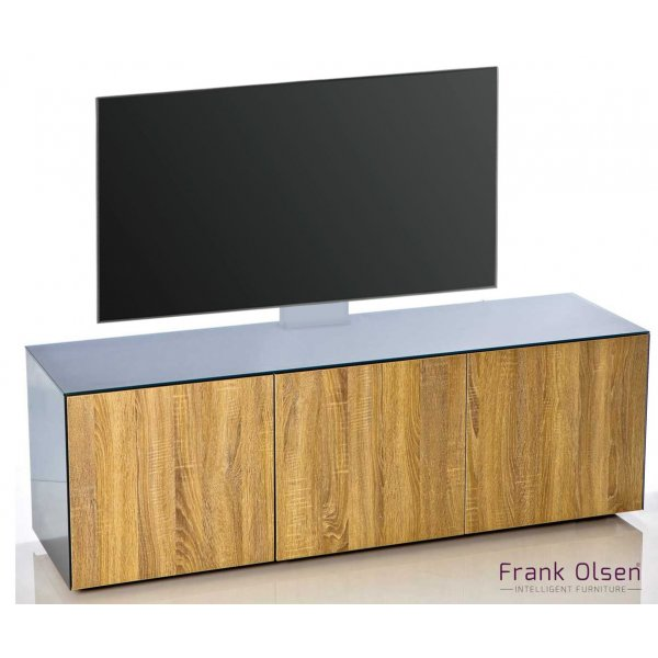 Frank Olsen INTEL1500 Grey & Oak Cantilever TV Cabinet For TVs Up To 60""