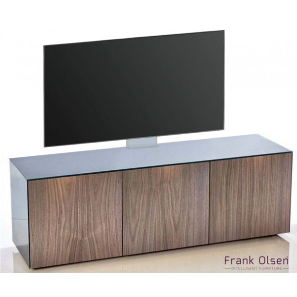 Frank Olsen INTEL1500 Grey & Walnut Cantilever TV Cabinet For TVs Up To 60""