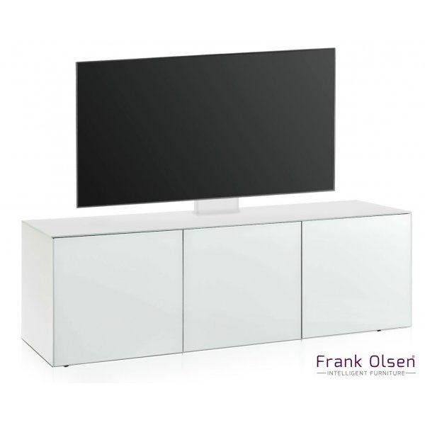 Frank Olsen INTEL1500 White Cantilever TV Cabinet For TVs Up To 60""