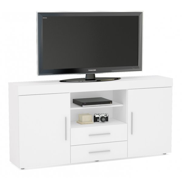 "TNW Carnaby Large High Gloss TV Unit For Up To 65"" - White"