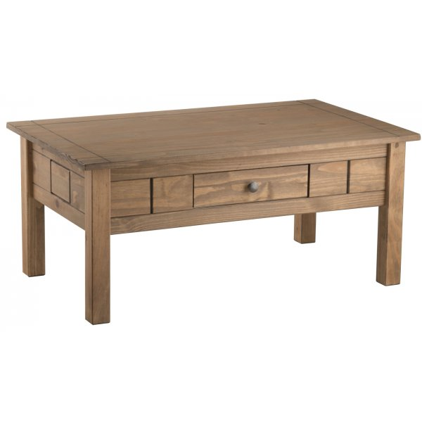TNW Monterrey Waxed Pine 1 Drawer Coffee Table
