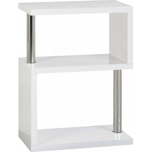 Valufurniture Charisma 3 Shelf Unit in White Gloss/Chrome