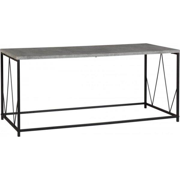 Valufurniture Corinthian Coffee Table - Concrete Effect/Black