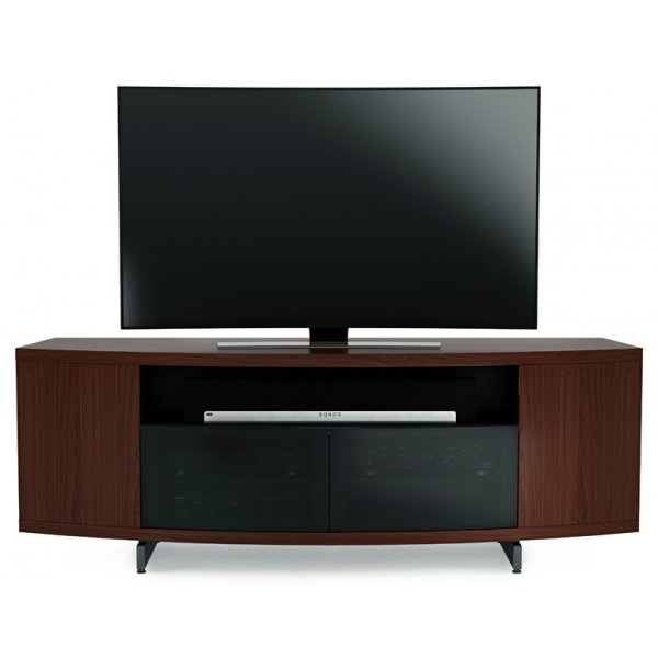 "BDI Sweep 8438 TV Stand For Up To 80"" TV\'s - Chocolate Stained Walnut"