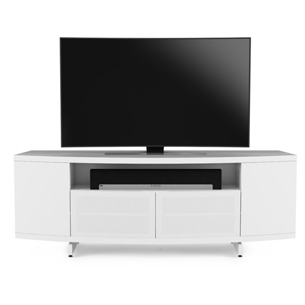 "BDI Sweep 8438 TV Stand For Up To 80"" TV\'s - Satin White"