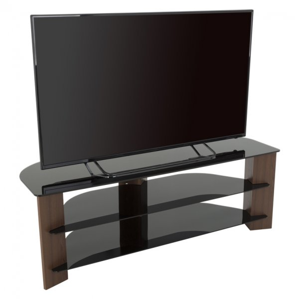 "AVF FS1300VARWB Varano Corner TV Stand For Up To 70"" - Walnut/Black"