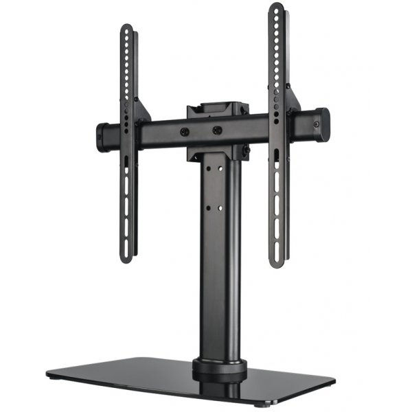Hama Tilt and Swivel Replacement Pedestal Table Top TV Stand For Up To 65""