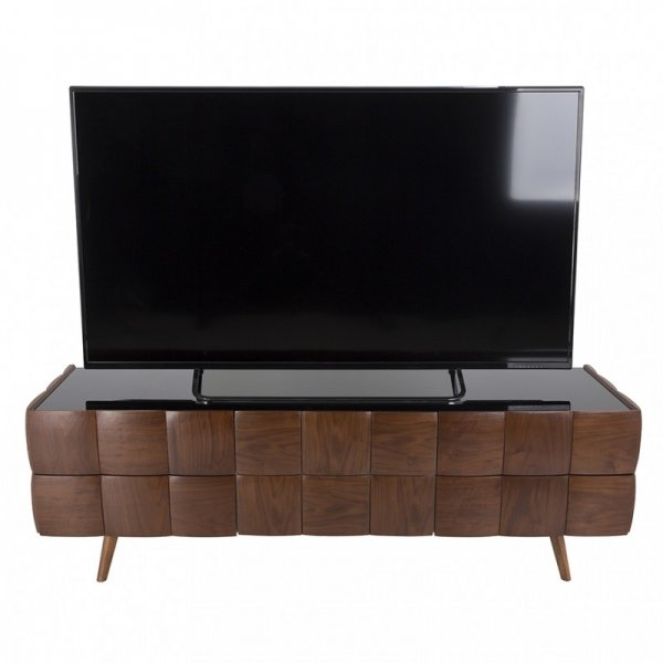 "AVF Delano Flat TV Stand For Up To 85"" - Walnut"