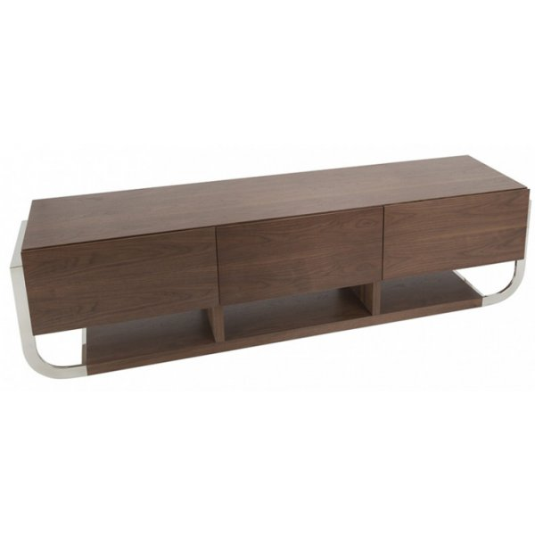 "AVF Clifton Flat TV Stand For Up To 85"" - Walnut"