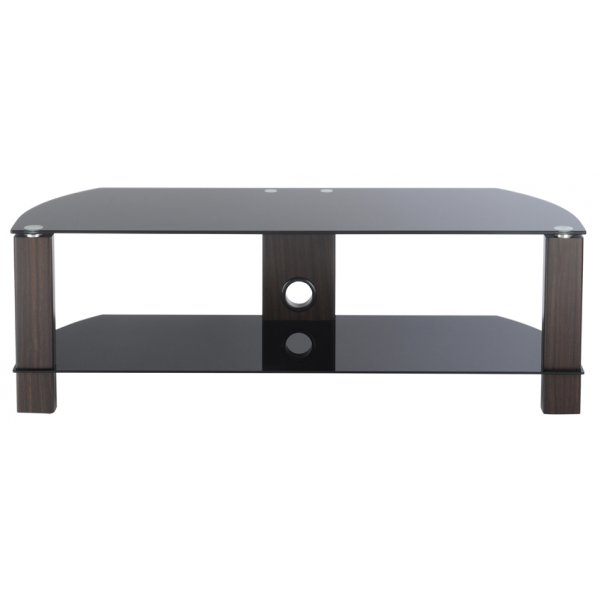 TNW Vision 1200 2 Shelf TV Stand - Walnut/Black