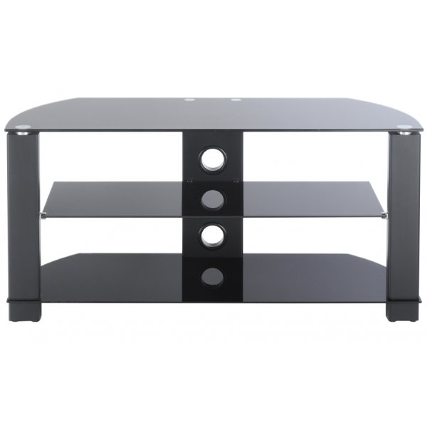 TNW Vision 800 Black Glass TV Stand For Up To 40""